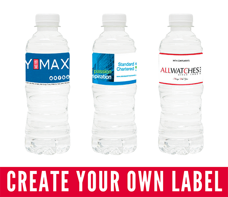 custom label water bottle