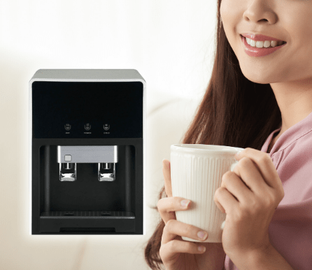 Black Table Top Filtered Water Dispenser (Hot & Cold)