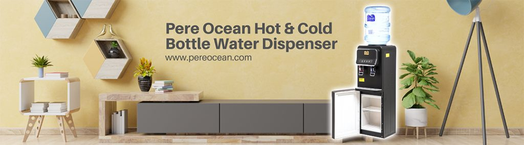 Pere Ocean Hot Cold Floor Standing Bottle Water Dispenser Header